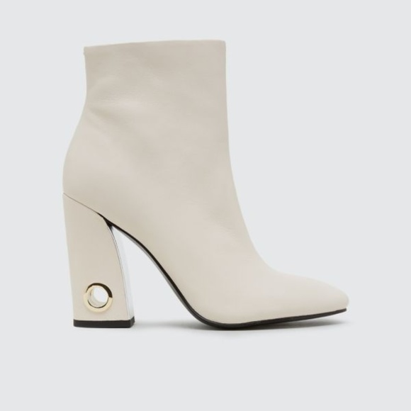 36% off LF Shoes - Dolce Vita White Bootie Heels (Valley Boots ...